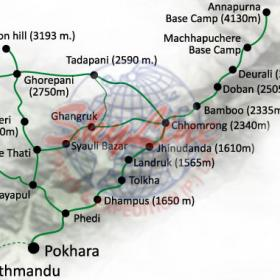ghorepani poon hill map