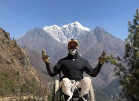 First Paraplegic to Reach Everest Base Camp